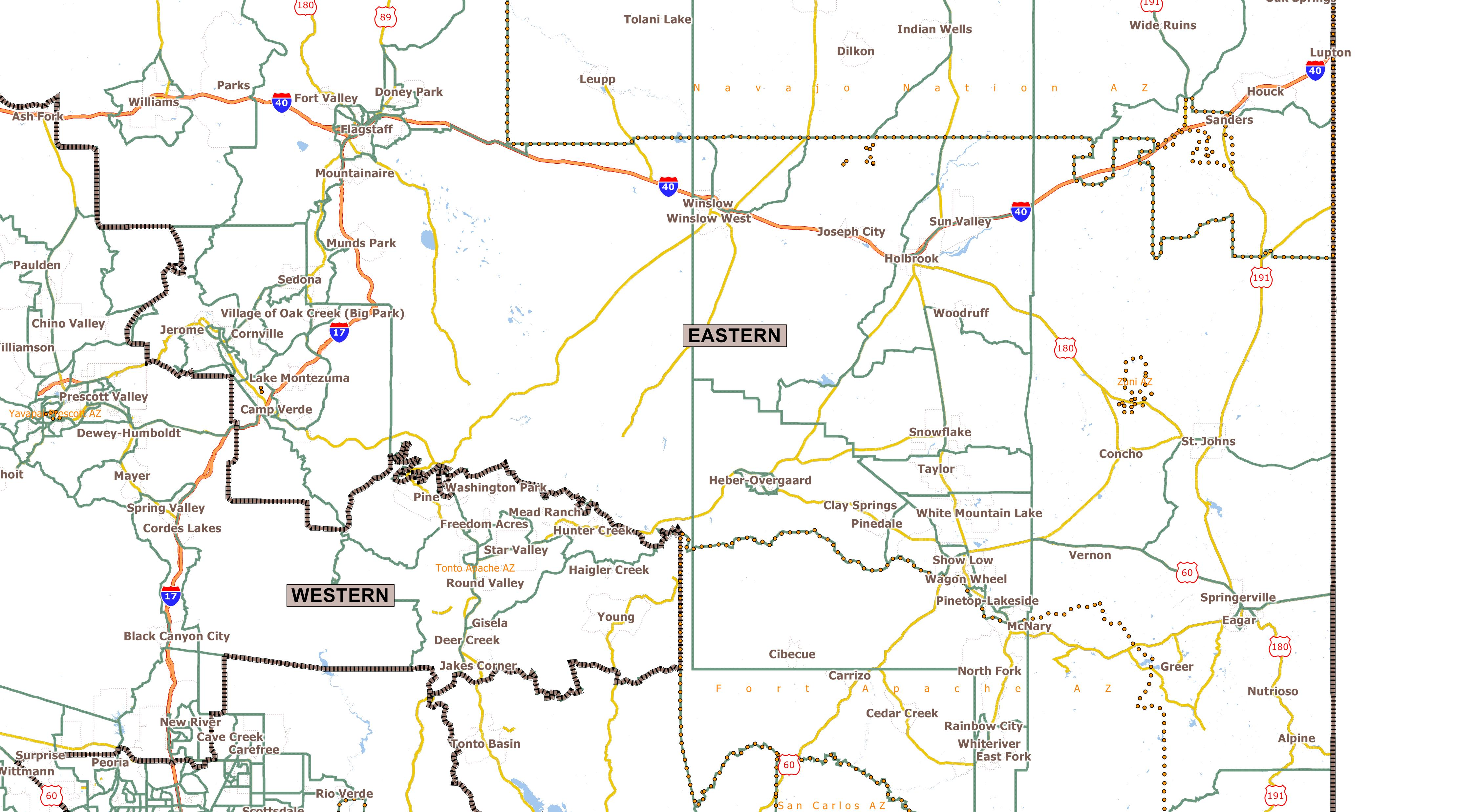 Map Of Eastern Arizona.Public Mapping Proposals