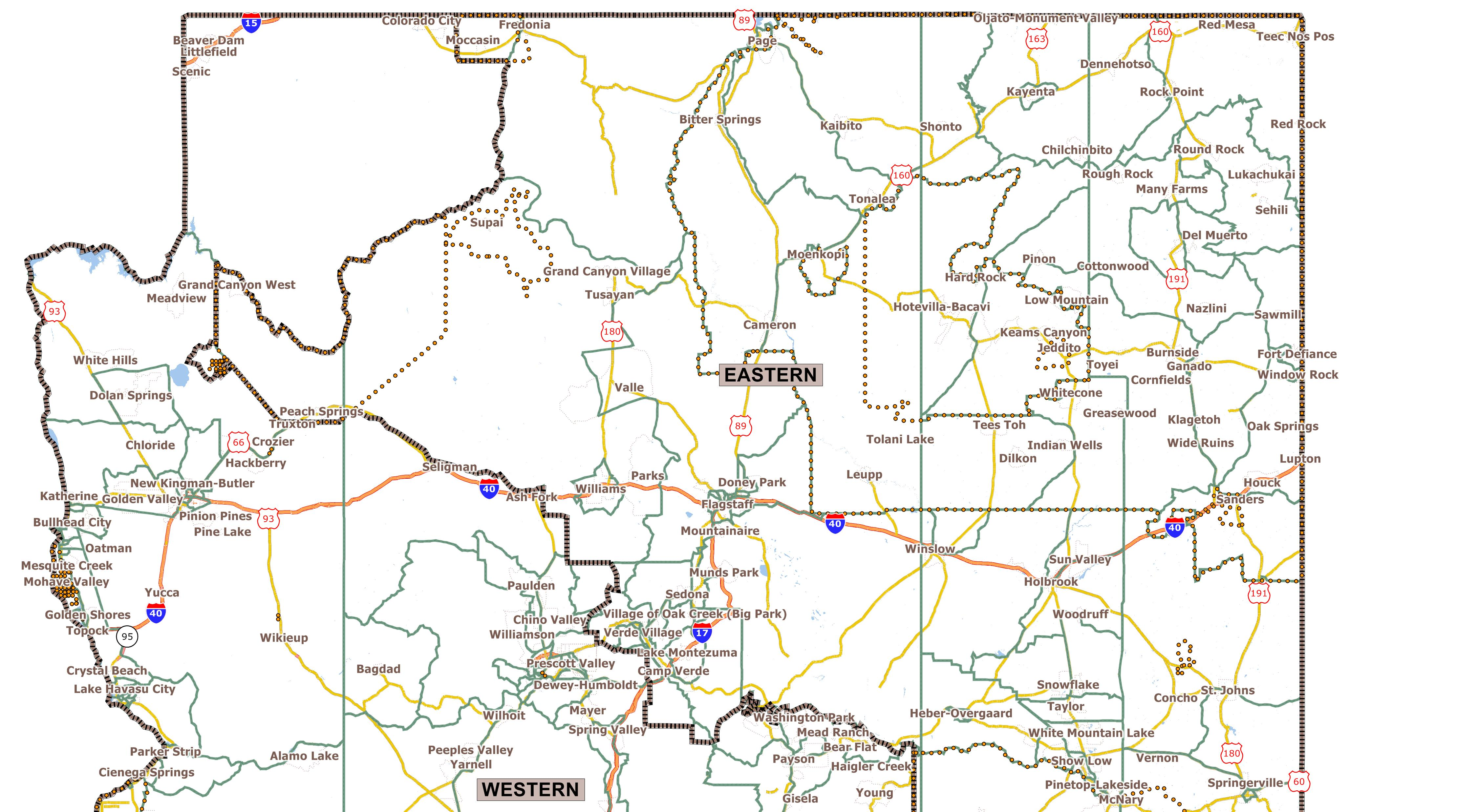 Public Mapping Proposals - Map of northern arizona