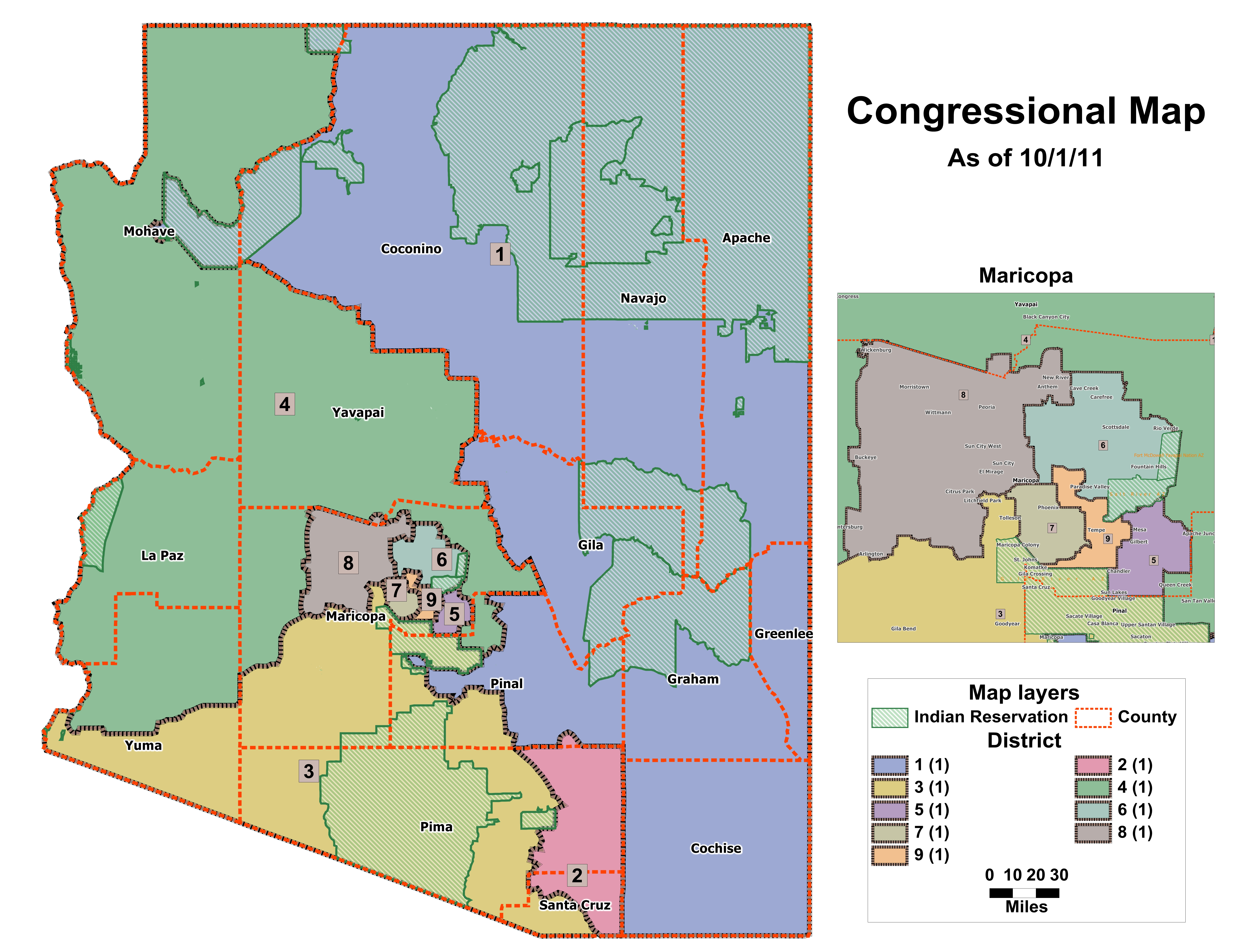 Map Of Arizona Voting Districts.Maps